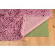 Linon New Flokati Hand Woven Wool 5and039x8and039 Rug In Lilac Purple