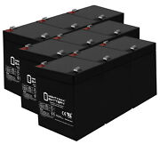 Mighty Max 12v 5ah Sla Battery Replacement For Ademco Vista 20pul - 9 Pack