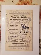 Rocky Marciano Joe Louis And Hall Of Fame Boxers Autographed Menu