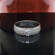 0.60 Ct Brilliant Cut Diamond Menand039s Ring In Platinum Channel Setting New