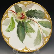 Kpm Hand Painted Echte Kastanie Cabinet Plate Signed
