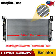 2370 34and039and039 Radiator For For Chevy Silverado 1500 2500 Suburban Tahoe 4.8 5.3 6.0l