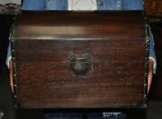 Old Chinese Huanghuali Wood Hand-carved Storage Boxes Plate Chest Treasure Box
