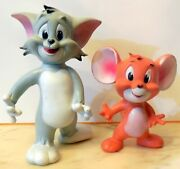 Vintage Rubber Toy Squeak Tom And Jerry Ledra Italy 1960 Mgm Hanna Barbera