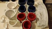 13 Pc. Boat Mates Drink Holders W/ Koozies And Hook Set