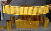 Chinese Royal Temple Bronze 24k Gold 16 Scripture Buddha Sutra Volume Book Set