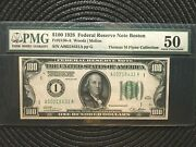 1928 100 Federal Reserve Note - Boston - Numeric Seal - Pmg 50 [[]]