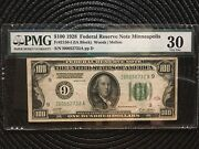 1928 100 Federal Reserve Note Numeric Seal 9 Minneapolis Gold Motto [[]]
