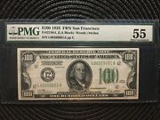 1928 100 Federal Reserve Note -san Fran - Numeric Seal - Pmg 55 [[]]
