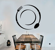 Vinyl Wall Decal Cutlery Spoon And Fork Kitchen Decor Stickers 3342ig