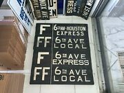R1/9 Ny Nyc Subway Roll Sign F Express Local 6 Avenue Central Park Houston St