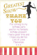 Personalised The Greatest Showman Film Birthday Thank You Cards Envelopes Gs4ty