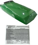 Upper Hood With Service Decal Replaces Am128986 Fits John Deere 445 455 415 425