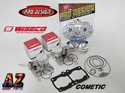Banshee Athena Big Bore Cylinders 421cc Stroker Wiseco Pistons Pro Head Dome Cub