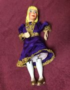Antique Moveable String Marionette Puppet Hand Painted All Wood And Wire