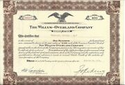 The Willys-overland Company.....1934 Common Stock Certificate