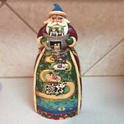 """Jim Shore - """"two By Two"""" Santa With Noah's Ark ..brand New In Box"""