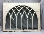 Antique Gothic Arched Window Sash Shabby Vintage Old Chic 32x41 54-19c