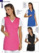 Jacket Woman Tropea 5 Colours Isacco Uniform Work Beautician Cleaning Food