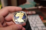 2017 Blue Colorized 1 Troy Oz .999 Silver American Eagle Dollar Coin 14 Of 100