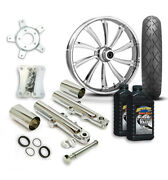 Rc 21 Cypher Wheel Tire And Complete Chrome Front End Package Harley 14-19 Flh