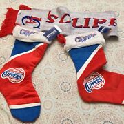 Lot Nba La Clippers Long Scarf And 2 Forever Collectible Christmas Stockings 70