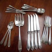 C. 1910 And Co Sterling Silver 20 Pieces Of Faneuil Flatware