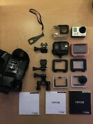 Gopro Hero3 Action Camera - White Edition W/ Mounts And Accessories - Black Case