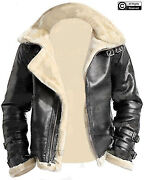 Menand039s Grey A2 Bomber Aviator Detachable Hood Artificial Fur Real Leather Jacket