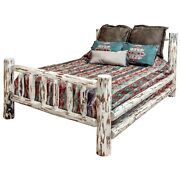 Rustic Log Bed Ca King Size Amish Made Beds Lodge Cabin Furniture