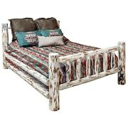 Queen Log Bed Amish Made Rustic Beds Montana Lodge Cabin Furniture