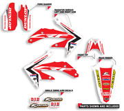 2004-2013 Honda Crf 70 Graphics Crf70 Red / Black Motocross Stickers Decals Kit
