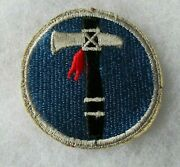 Wwii 19th Corps Variant Royal Bright Blue With Red Feather Cut Edge