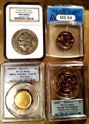 5 Hard To Find Dollar Us Error Slabbed Coins - Pcgs, Anacs, Ngc