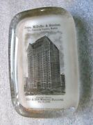 Old Glass Paperweight Advertising Jones Mcduffie And Stratton China Dealers