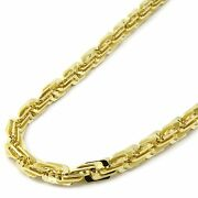 Mens 14k Gold Plated 3d Maze Hip Hop 10mm 24 Inch Rope Style Chain Necklace