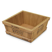 Rustic Wooden Crates Vintage Decorative Tray Storage Display Box Container