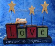 Love Came Down On Christmas Morn Nativity From Blossom Bucket 158-10106