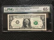 2013 1 Fed Res Note Solid Serial Number 3 3 3 3 3 3 3 3 Pmg 65 [[]]