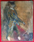 Oil Painting Of A Spanish Matador By Kenneth Jay Lane 1952 Mid Century Modern