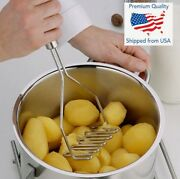 Stainless Steel Handle Potato Masher And Ricer Mash Potatoes Vegetables Tool