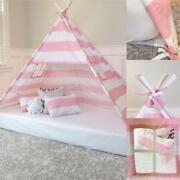 Play Tent Canopy Bed In Pink And White Stripe