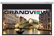 8ft 106 Grandview Cyber Electric 169 Home Cinema Projector Screen With Remote