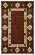 Southwest Soft Wool Area Rug 10 X 14and039 Red Tan Rust Navy Blue Green Brown Tribal