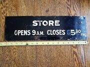 Vintage Advertising Open And Closed Brass Signs