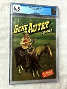 Gene Autry Comics 38 Dell Apr 1950 Cgc 6.5 Off-wh/wht Pgs Photocover Front/rear