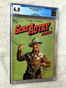 Gene Autry Comics 42 Cgc 6.0 Off-wht Pgs Photocovers Front/rear Dell Aug 1950