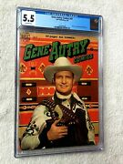 Gene Autry Comics 41 Cgc 5.5 Offwhite Pgs Dell July 1950 Photocovers Front/rear