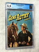 Gene Autry Comics 36 Cgc 5.5 Off-white Pgs Dell Feb 1950 Photocovers Front/rear