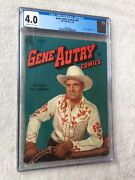 Gene Autry Comics 35 Cgc 4.0 Off-wh/white Dell Jan 1950 Front/rear Photo Covers
